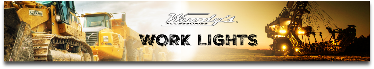 WORK LIGHTS BANNER, WOODYS