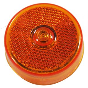 "2.5"" ROUND LED MARKER LIGHT, 5 DIODE, AMBER w / REFLEX"