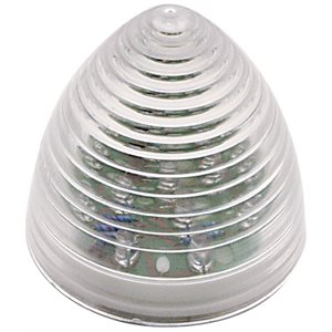 "2"" ROUND, BEEHIVE MARKER LIGHT, 9 RED DIODES, CLEAR LENS"