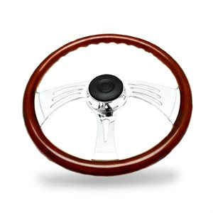 KW STEERING WHEEL, 3 SPOKE- WING DESIGN, 18""