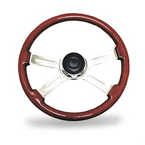 KW STEERING WHEEL, 4 SPOKE, 18""
