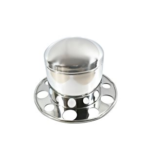 "AXLE COVER, REAR, 22.5"" & 24.5"", HUB PILOT, STAINLESS STEEL, CAP"