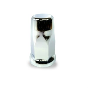 "LUG NUT COVER, 33mm KING SIZE, 3"" TALL, CHROME PLATED"