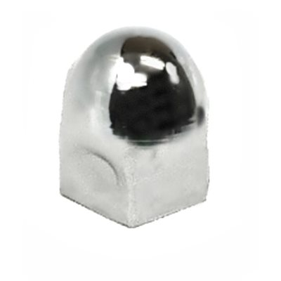"LUG NUT COVER, 1"", STAINLESS,CHEVY"