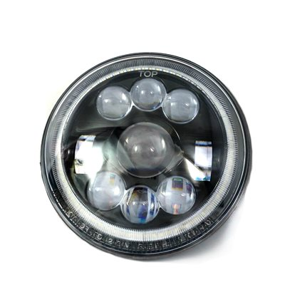 "HEADLIGHT, LED, 7"" HI / LOW BEAM COMBO, w / BLACK INSERT"