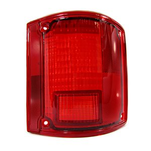 RIGHT TAILLIGHT LENS, CHEVY, RED