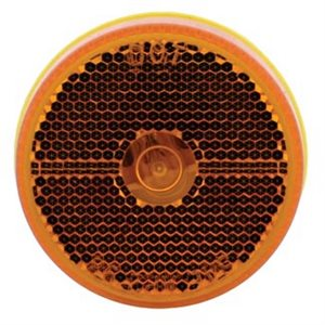 "2.5"" ROUND MARKER LIGHT, INCANDESCENT, AMBER W / REFLEX, DOT COMPLIANT"