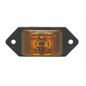 """CHARGER JR."" AMBER MARKER / CLEARANCE, 2-LED, 2 WIRES"