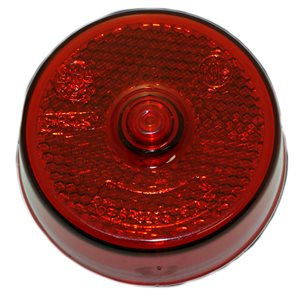 "2.5"" ROUND MARKER LIGHT, INCANDESCENT, AMBER, REFLEX W / O BOSS"