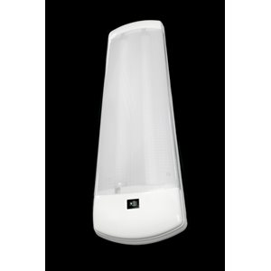 "6.5""x24"" FLUORESCENT LIGHT, INTERIOR, 2x15W, WHT ABS, ON-OFF SWITCH"