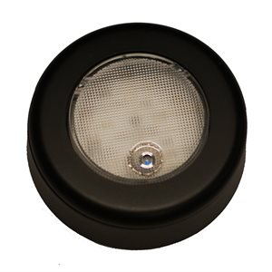 "3"" ROUND LED CLICK LIGHT, BLACK , W / BEZEL"