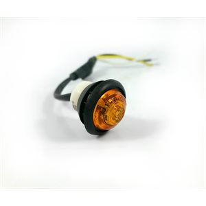 "LED AUXILIARY LIGHT, 3 / 4"", AMBER LENS,1 DIODE, 3 WIRE, W / GROMMET"