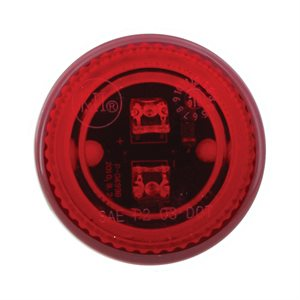 "2"" ROUND LED MARKER LIGHT, 2 DIODE, RED LENS"