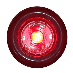 "3 / 4"" LIGHT, MARKER / CLEARANCE, CLEAR LENS, 1 RED DIODE, 2 WIRES"