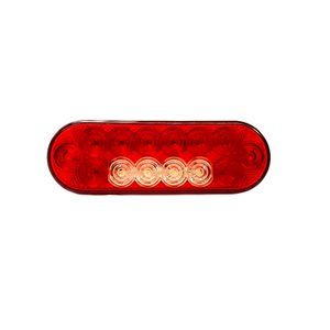 "6"" RED OVAL LED LIGHT, Stop / Tail / Indicator / Reverse"