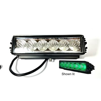 79 off roadsingle row led light bar1350 lumen spot green aloadofball Gallery
