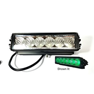 "7.9"" OFF-ROAD,SINGLE ROW LED LIGHT BAR,1350 LM, SPOT-GREEN"