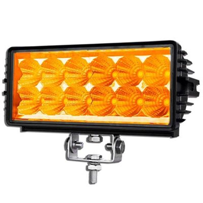 "7.9"" OFF-ROAD, LIGHT BAR, AMBER LED, DOUBLE ROW, 1350LM-SPOT"