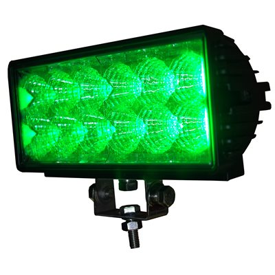 Off Road Light Bar 12 Green Led Double Row 36w 2700