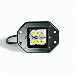 LED WORK LIGHT, 6 LED, FLUSH MOUNT -FLOOD