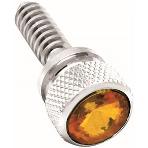 87-2000' PETERBILT DASH SCREW, AMBER JEWEL TOP
