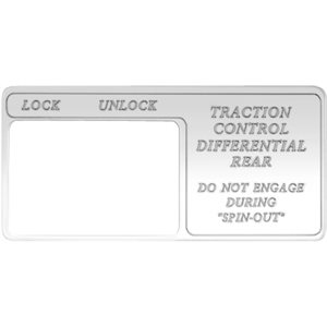 "FREIGHTLINER SWITCH GUARD, ""TRACTION CONTROL DIFFERENTIAL, REAR DUMP VALVE: LOCK / UNLOCK"" FOR CENTURY"