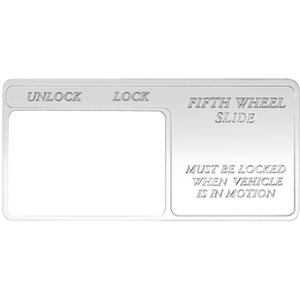 "FREIGHTLINER SWITCH GUARD, ""FIFTH WHEEL DUMP VALVE: UNLOCK / LOCK"" FOR CENTURY"