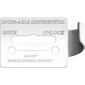 "FREIGHTLINER SWITCH GUARD PLATE, -""INTER AXLE DIFFERENTIAL, LOCK / UNLOCK"", FLD CLASSIC, ENGRAVED"