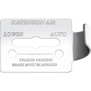 "FREIGHTLINER SWITCH GUARD PLATE, -""SUSPENTION AIR, LOWER / AUTO"", FLD CLASSIC, ENGRAVED"