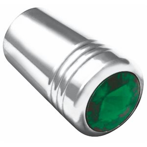 EXT. TOGGLE SWITCH, KW, GUARDED, CHROME, GREEN JEWEL, 3 / PK