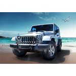 JEEP WRANGLER GRILL, 07-2015, CHROME PLATED ABS / PC PLASTIC