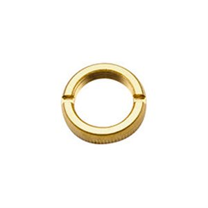 PETERBILT FACE NUT, FOR AIR WINDOW & DOOR LOCK CONTROL-GOLD PLATED