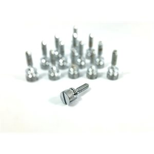 PETERBILT SCREWS, KNURLED HEAD FOR DASH PANEL-CHROME 14PK